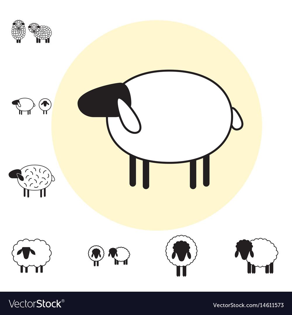 Sheep or ram icon logo template pictogram