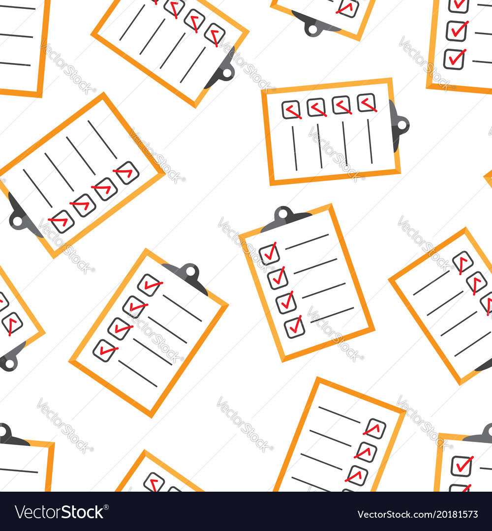 to do list seamless pattern background business vector image