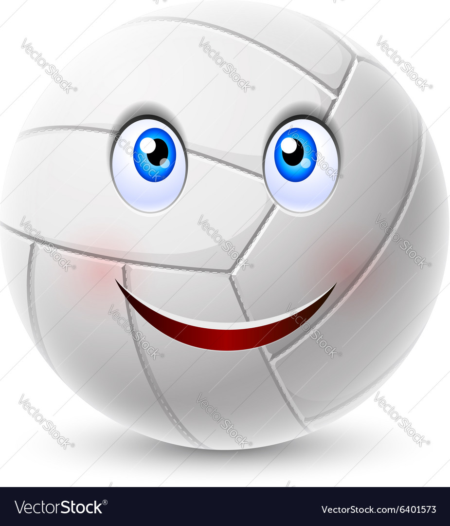 Volleyball ball cartoon character
