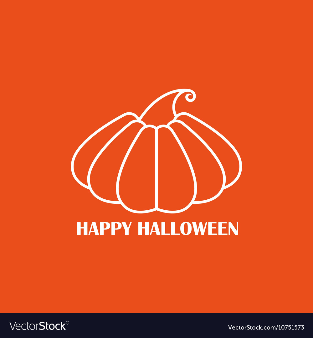 White pumpkin on orange background poster