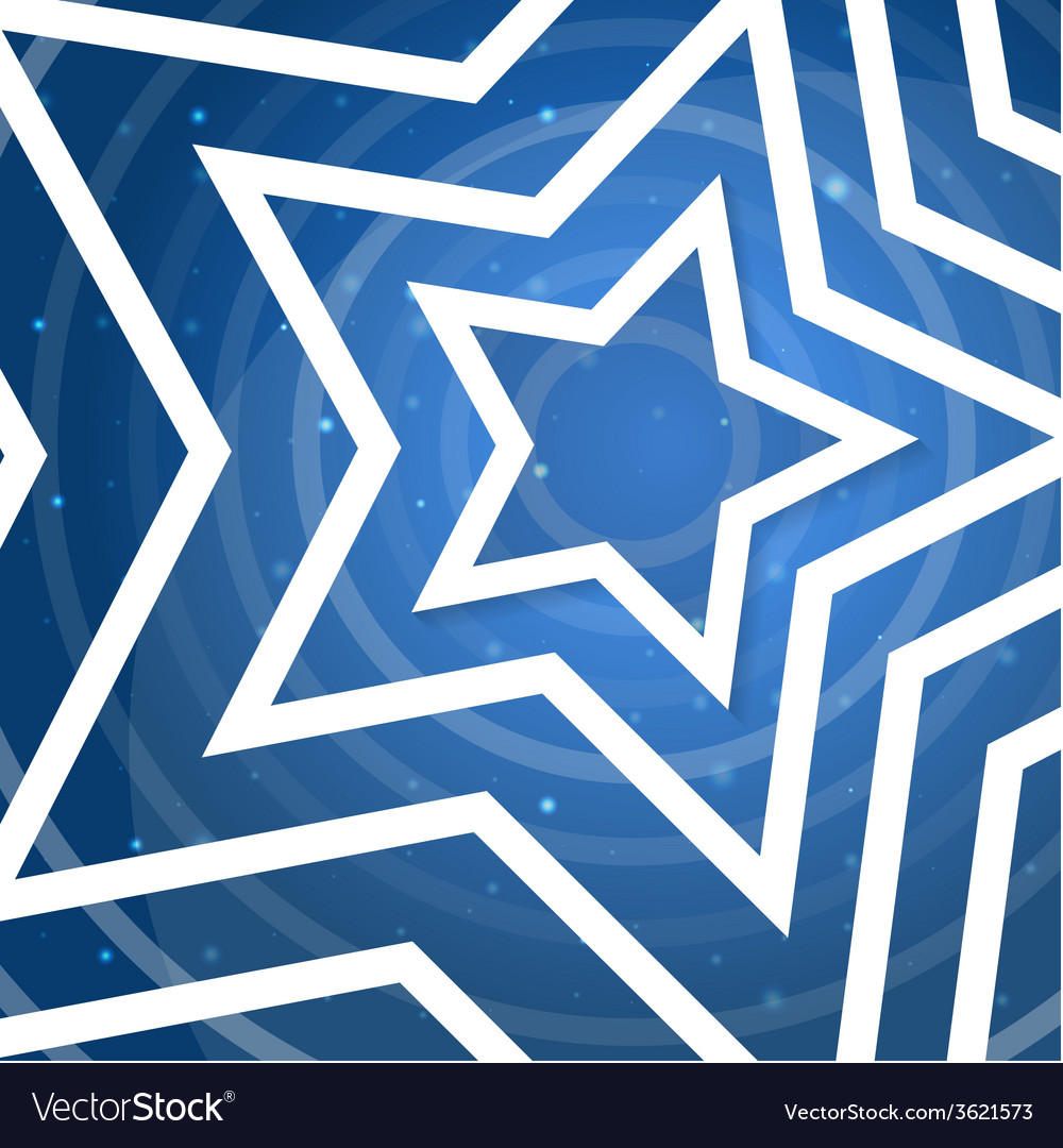 White star application on blue background f
