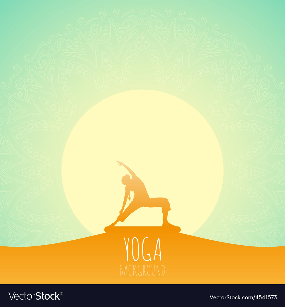 Yoga background vector image