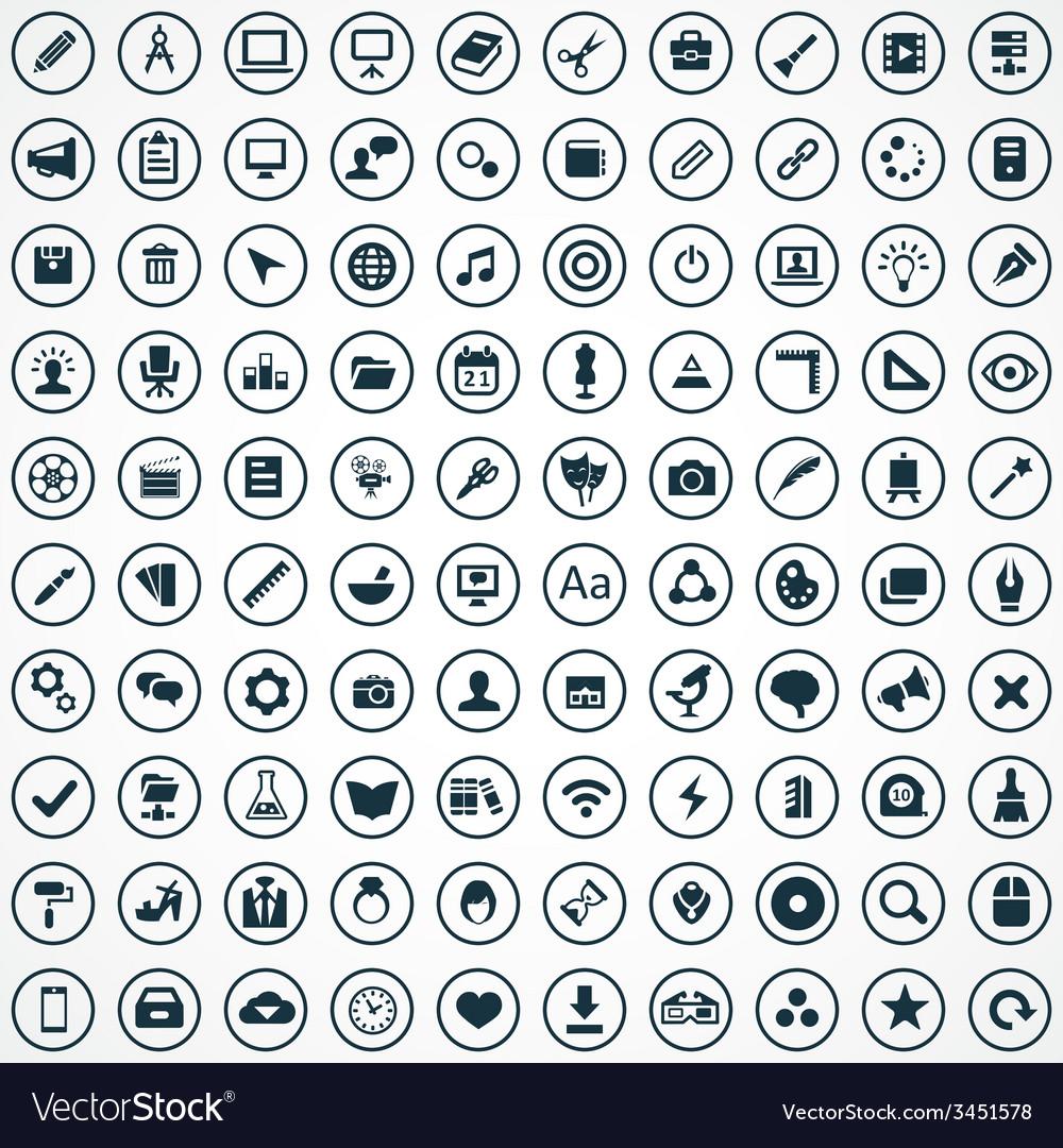100 art design icons