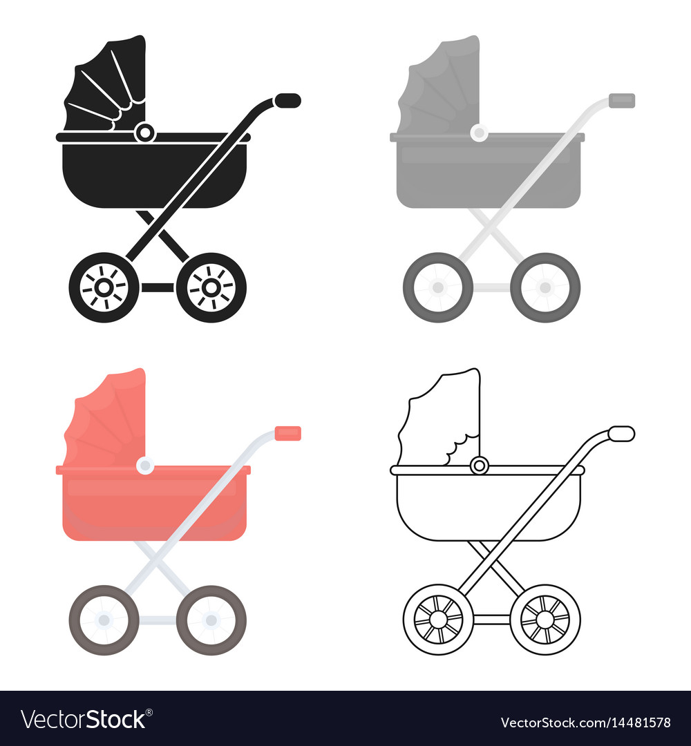 Baby transport icon in cartoon style isolated on
