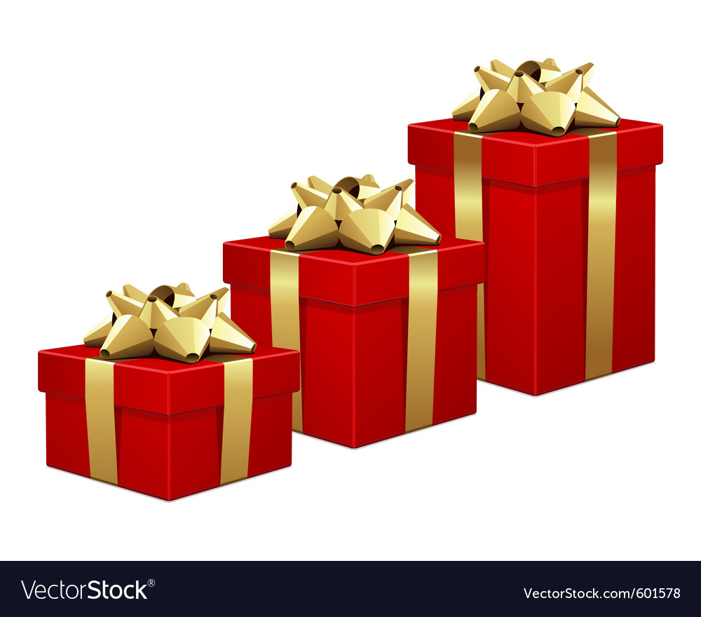 Christmas gift boxes Royalty Free Vector Image