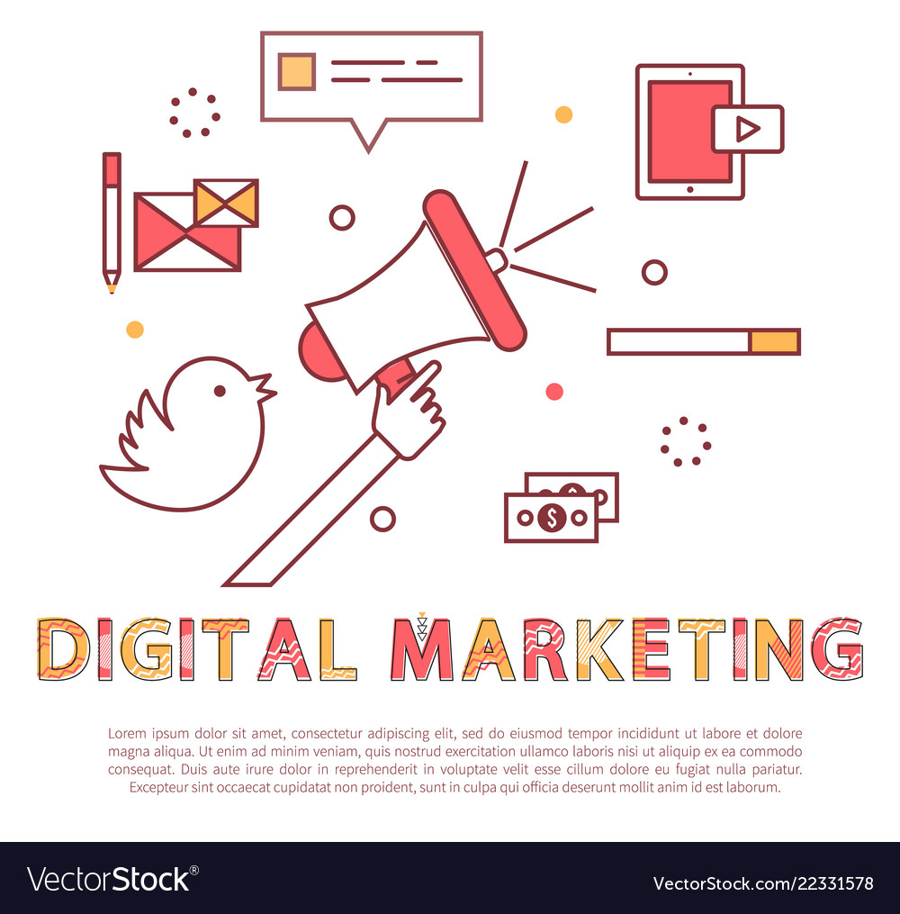 Digital marketing poster text
