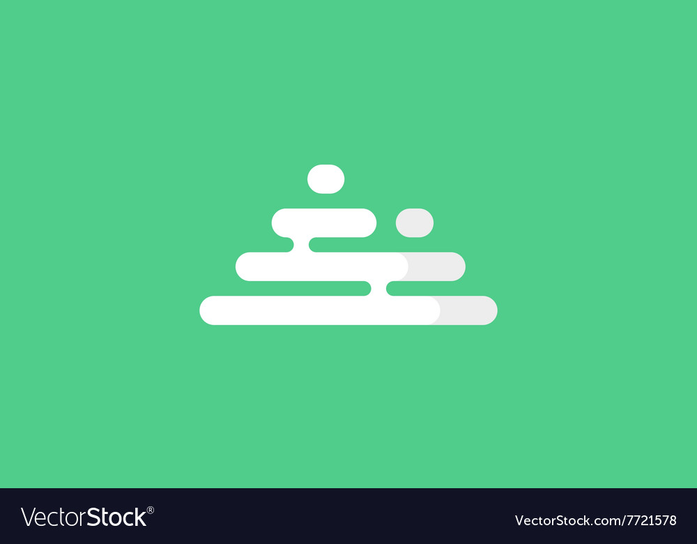 Mountains logo Minimalistic mountains logo vector image