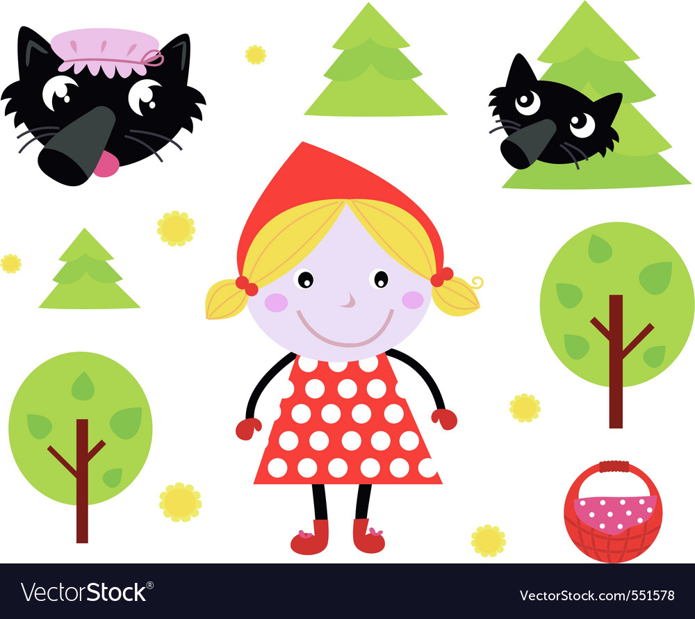 Red riding hood icons