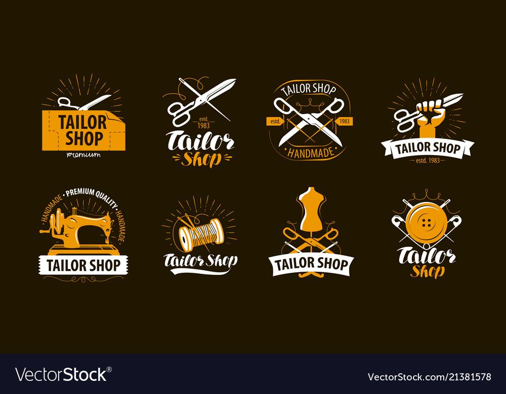 Tailoring tailor shop logo or label atelier