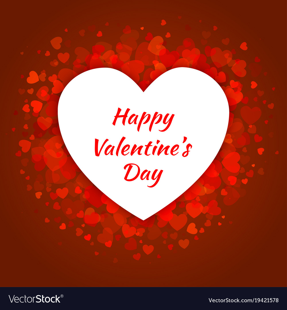 Valentines Day Card Design Royalty Free Vector Image