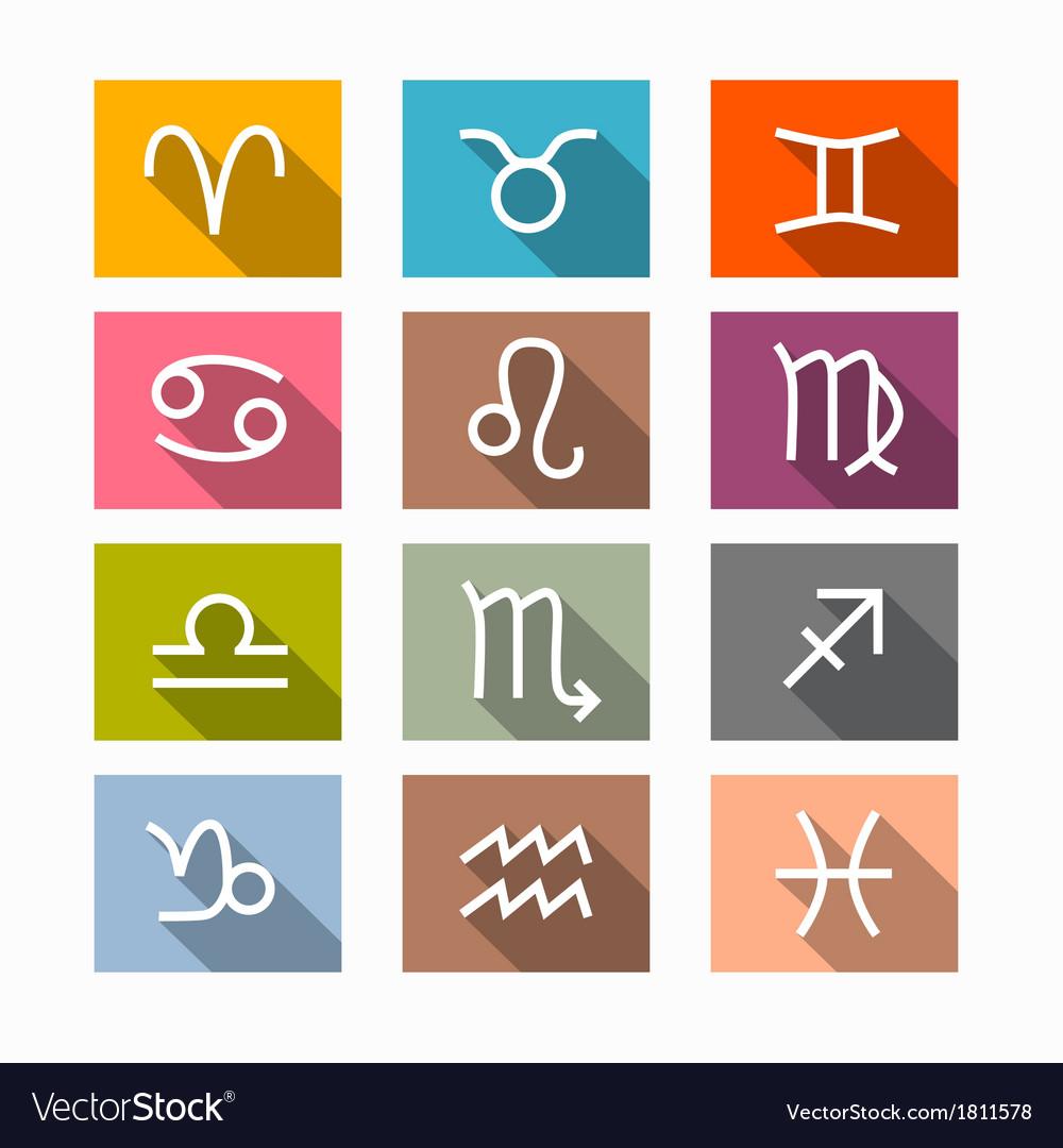 Zodiac Horoscope Symbols Royalty Free Vector Image