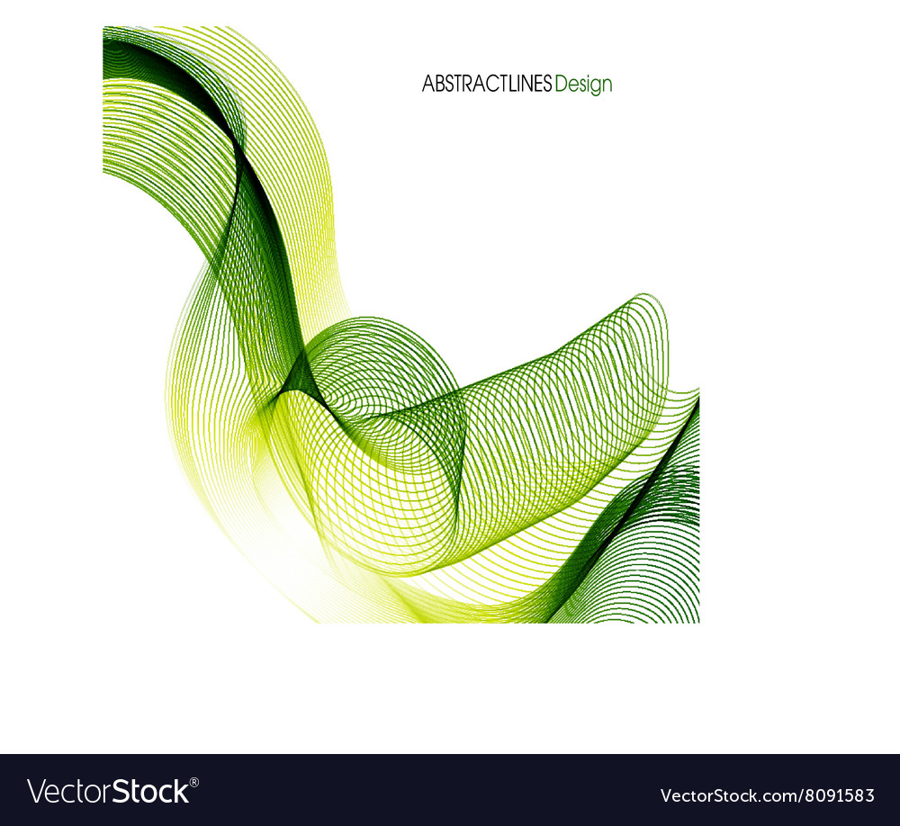 Abstract Green Lines Design