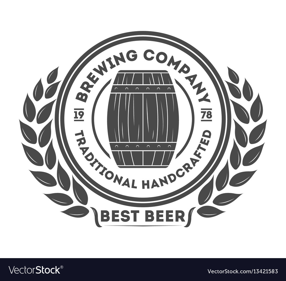 Beer pub vintage isolated label