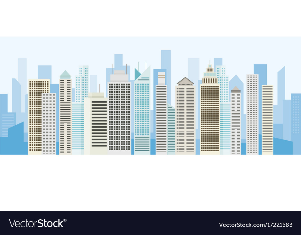 Buildings and skyscrapers background panorama
