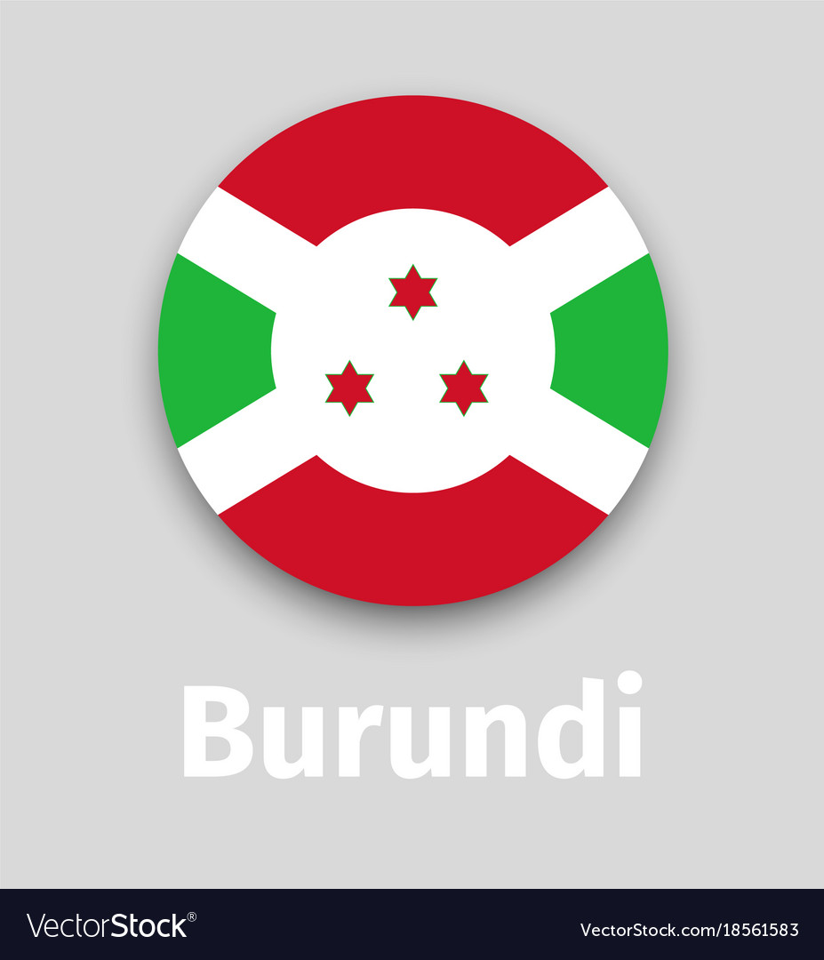 Burundi flag round icon