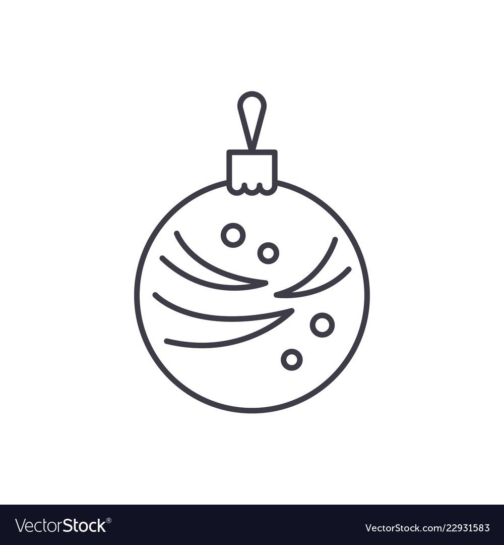 Christmas winter ball line icon concept christmas