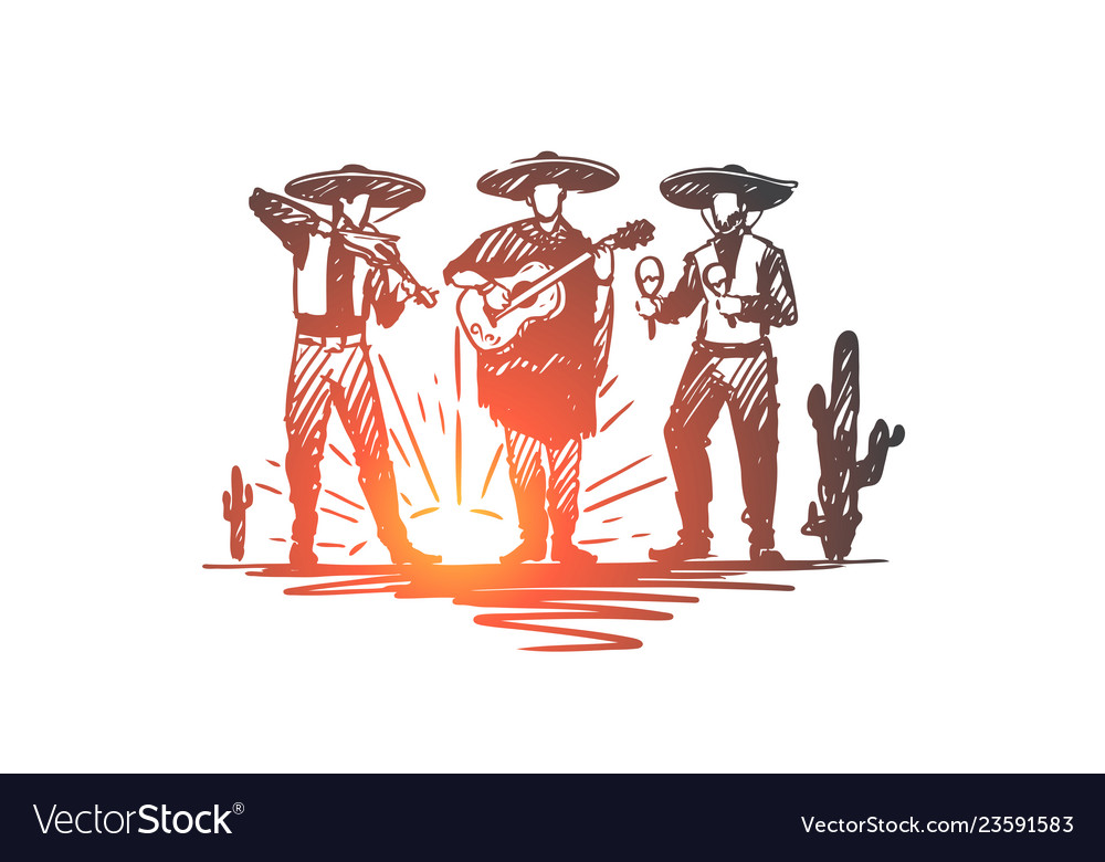 Mexican sombrero cinco de mayo holiday concept