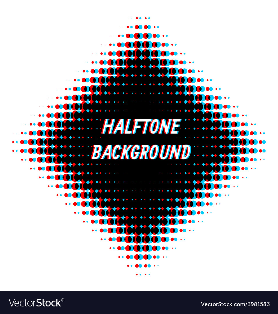 Square overlayed halftone background