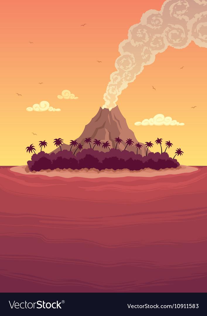 Tropical Island 2 vector image