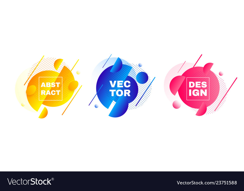 Abstract banners layout template