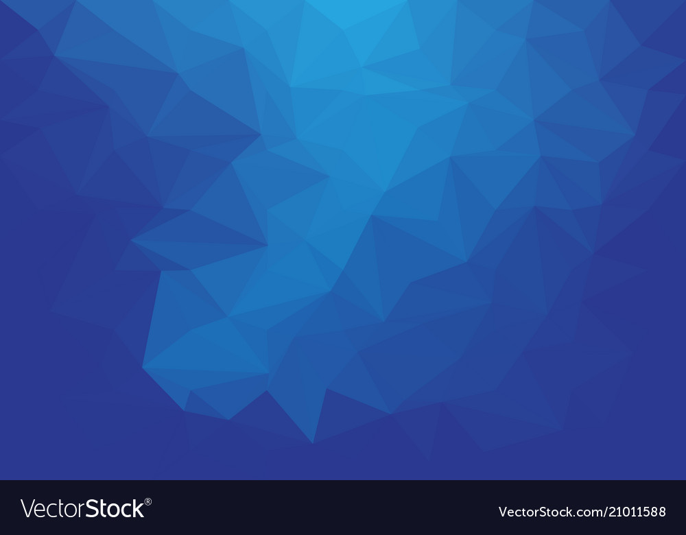 Abstract blue tone low polygon background