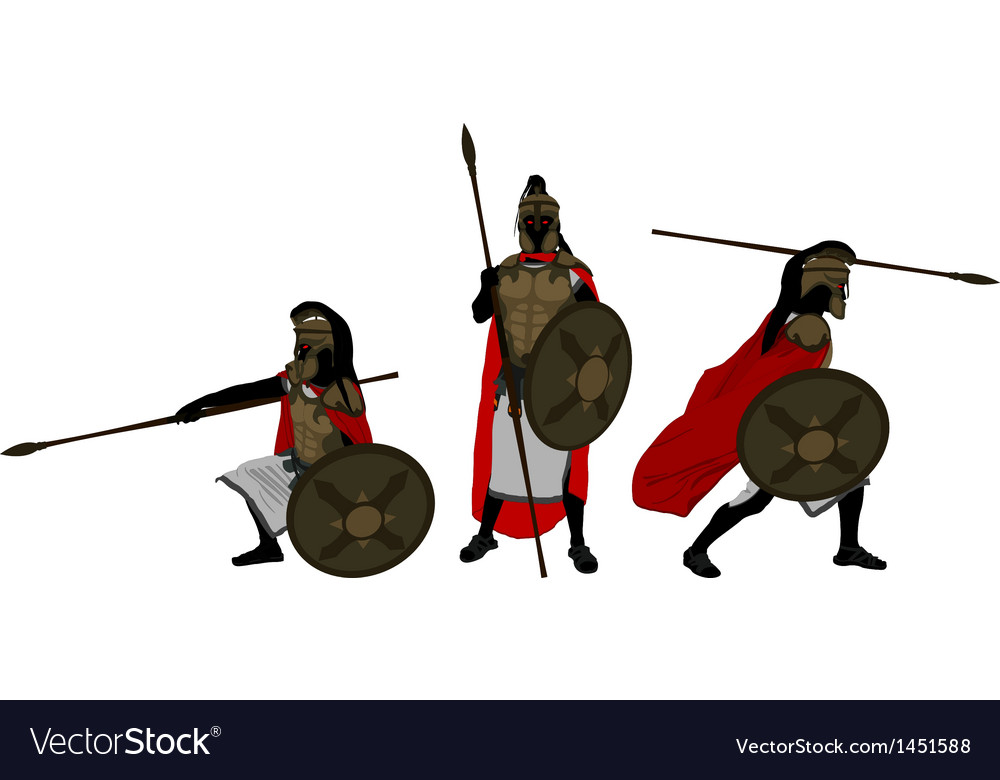 Ancient warriors vector image
