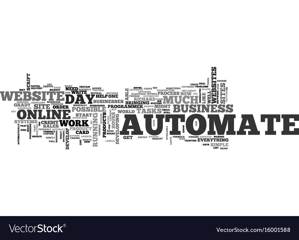 Automate automate automate text background word