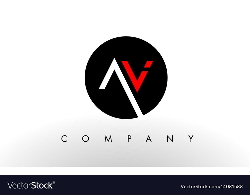 Av logo letter design vector image