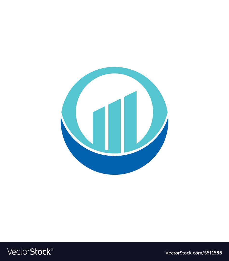 Business finance chart round logo