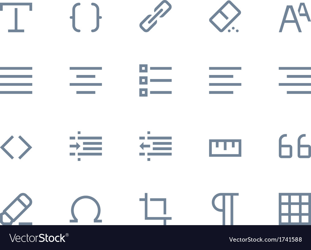 Editing icons line