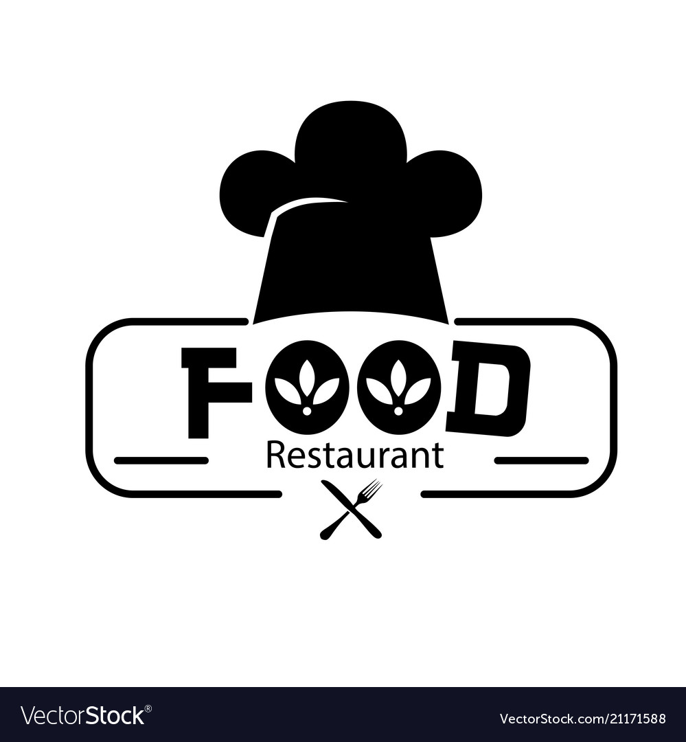 Food restaurant logo chef hat background im