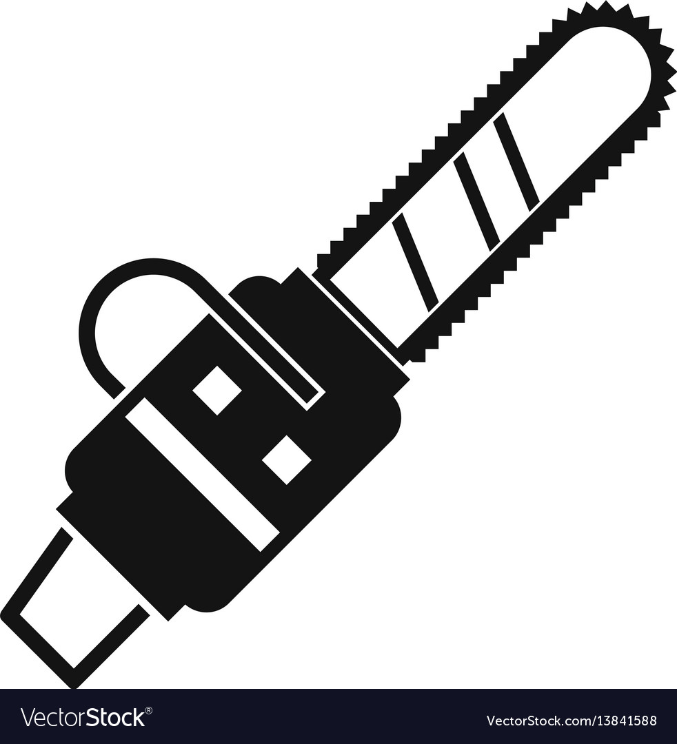 Gasoline powered chainsaw icon simple style vector image