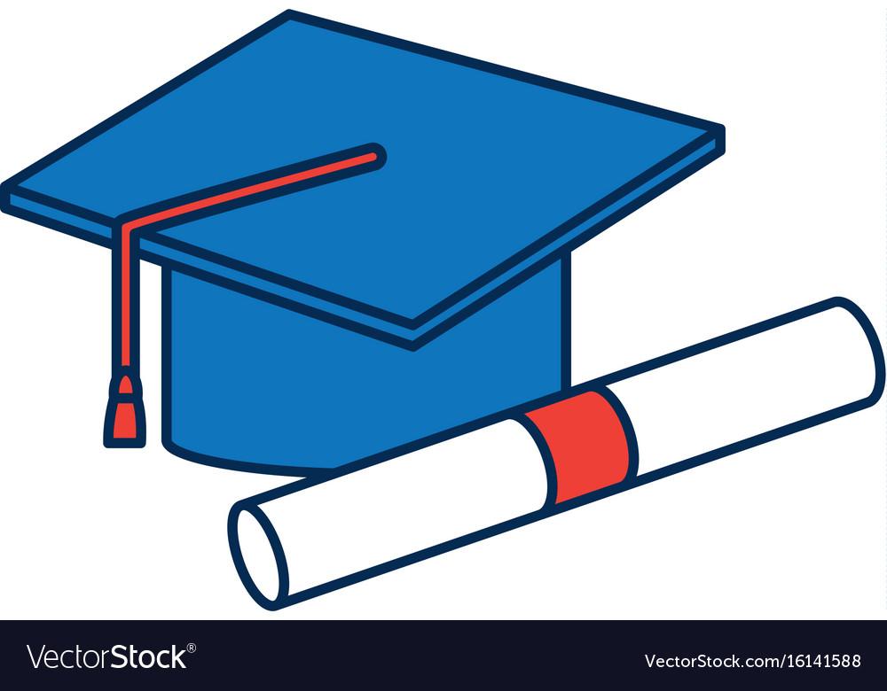 Graduation cap diploma certificate school