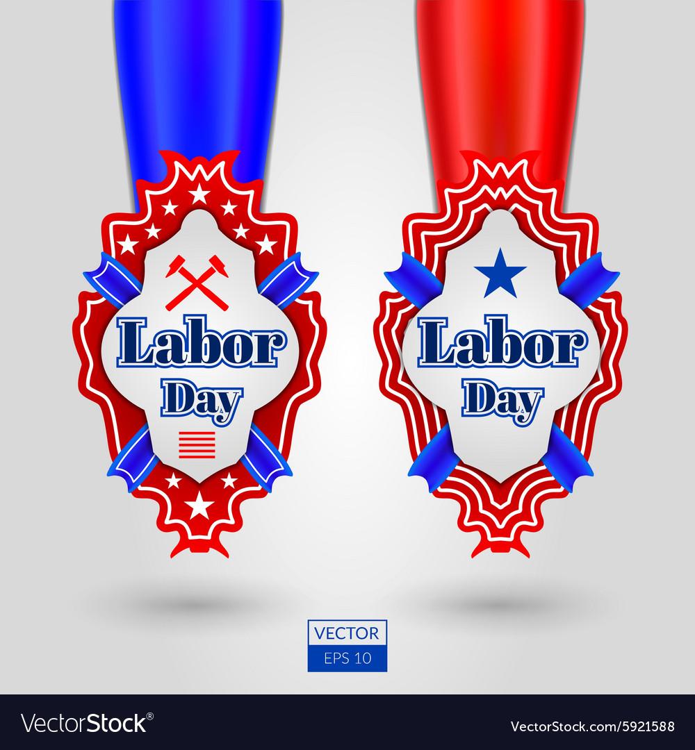 Labor day emblems