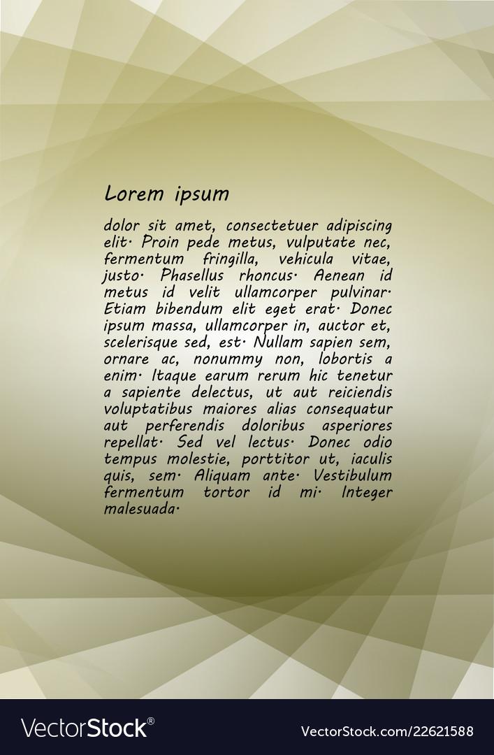 Minimalist leaflet background design composed of