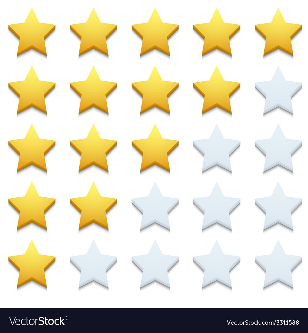 Modern stars icon set on white
