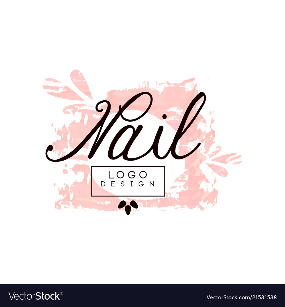 Nail Logo Design Template For Nail Bar Manicure Vector Image