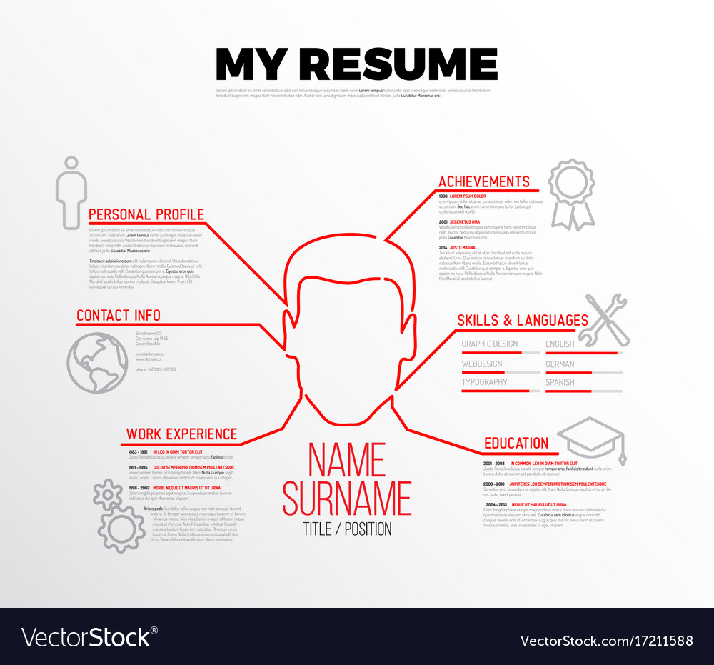Original Minimalist Cv Resume Template Royalty Free Vector