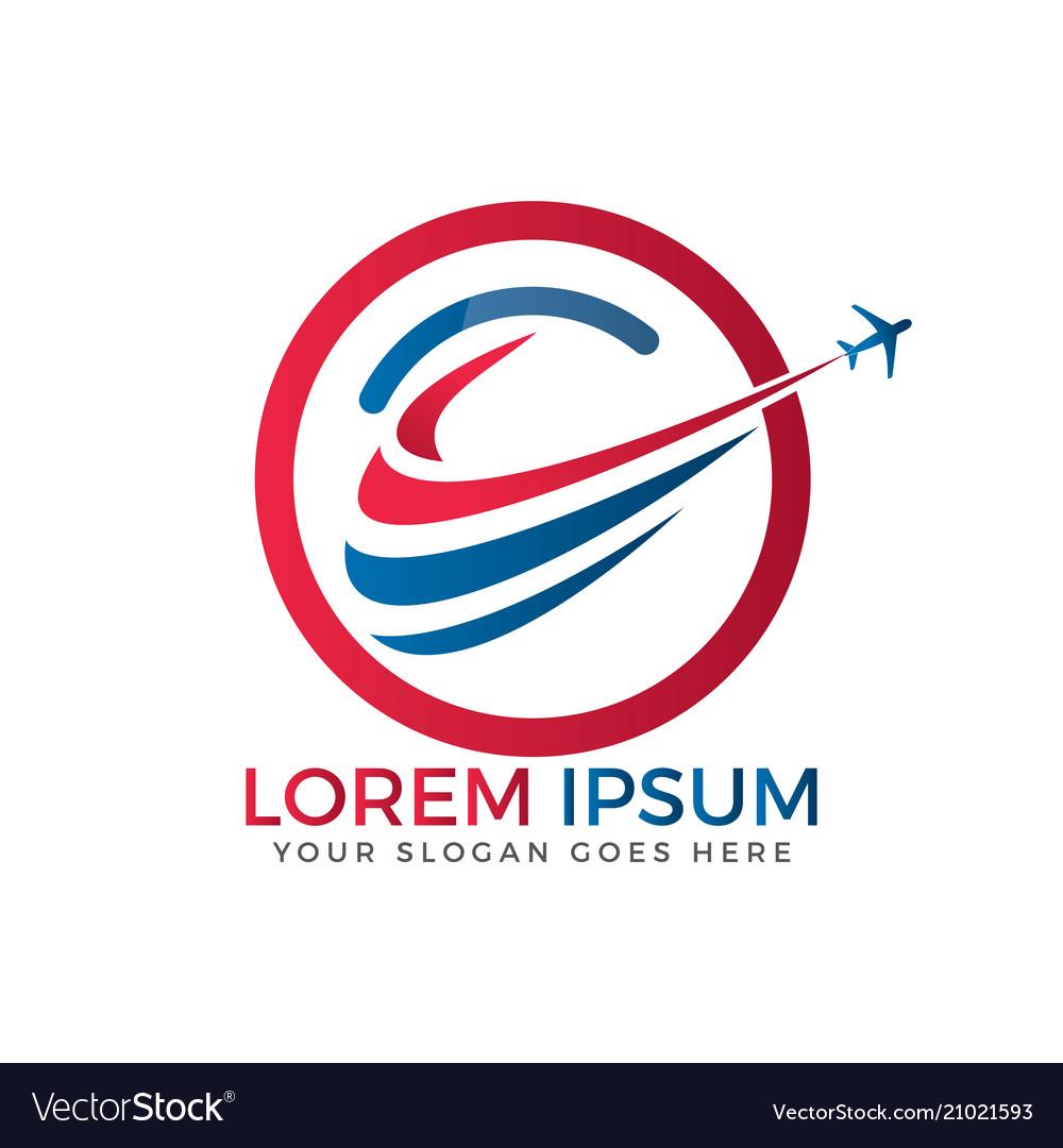 Airplane travel logo design