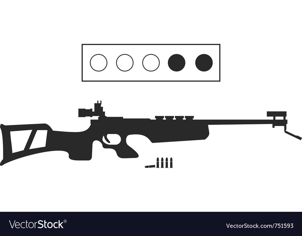 Biathlon equipment vector image