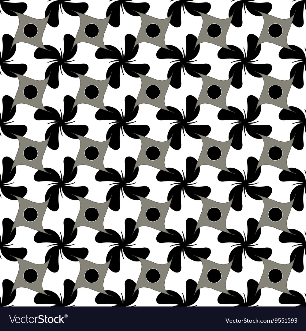 Circle and flower seamless pattern