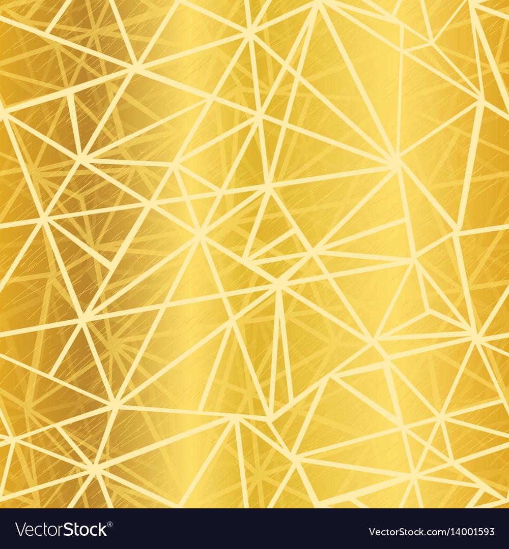 Golden yellow glowing geometric mosaic