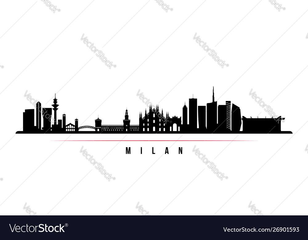 Milan city skyline horizontal banner