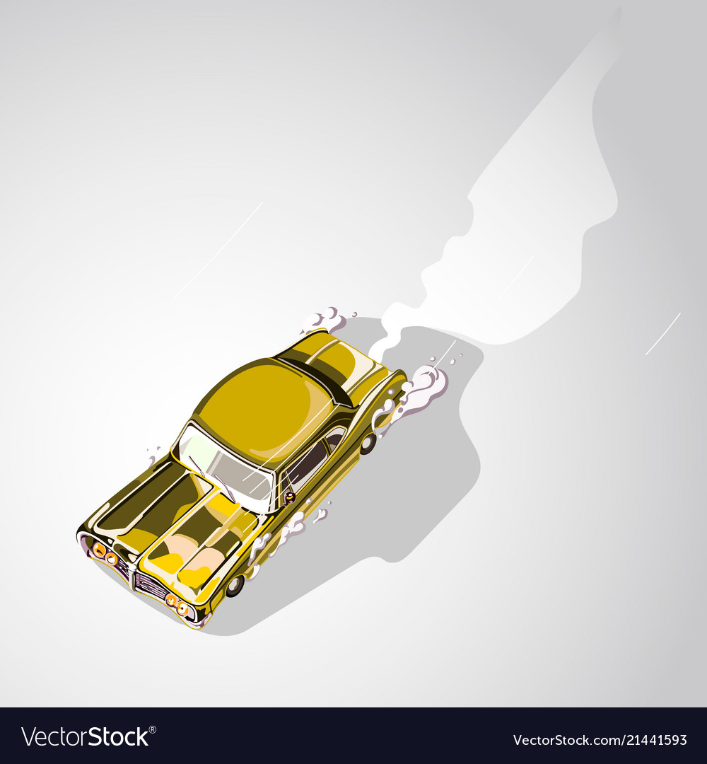 Retro muscle car