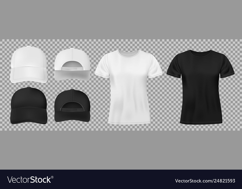 Set sports wear template black and white
