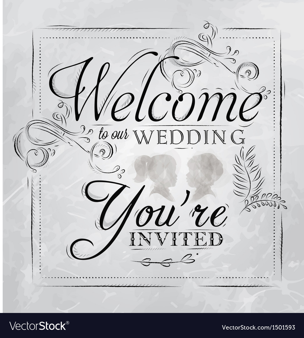 Wedding invitation coal vector image