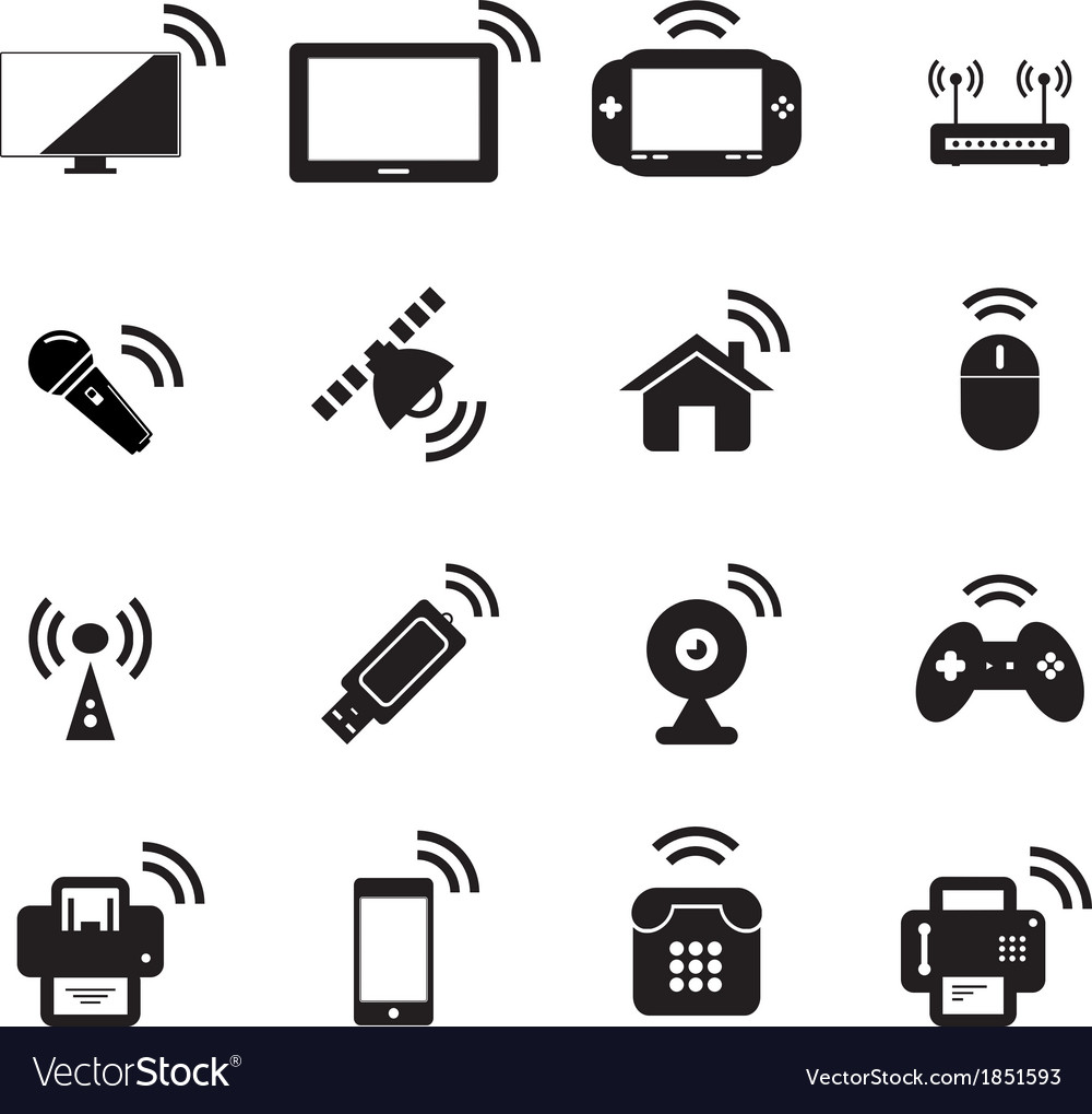 Wireless icon Royalty Free Vector Image - VectorStock