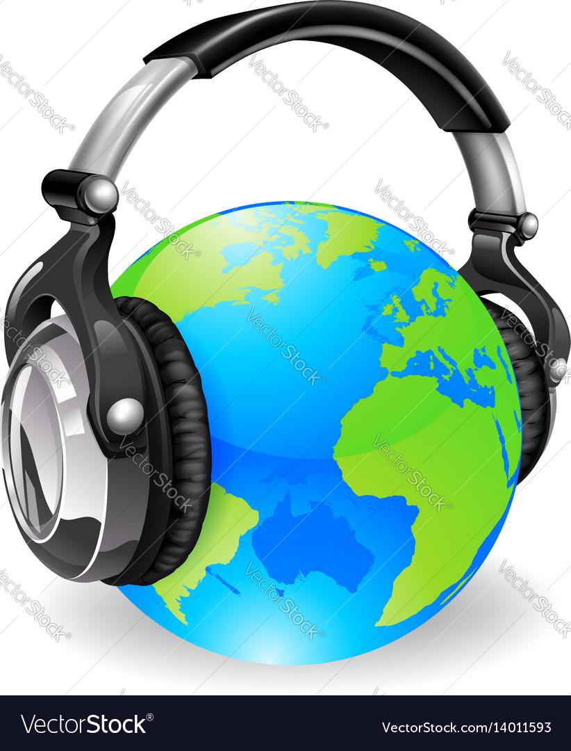 World globe music headphones