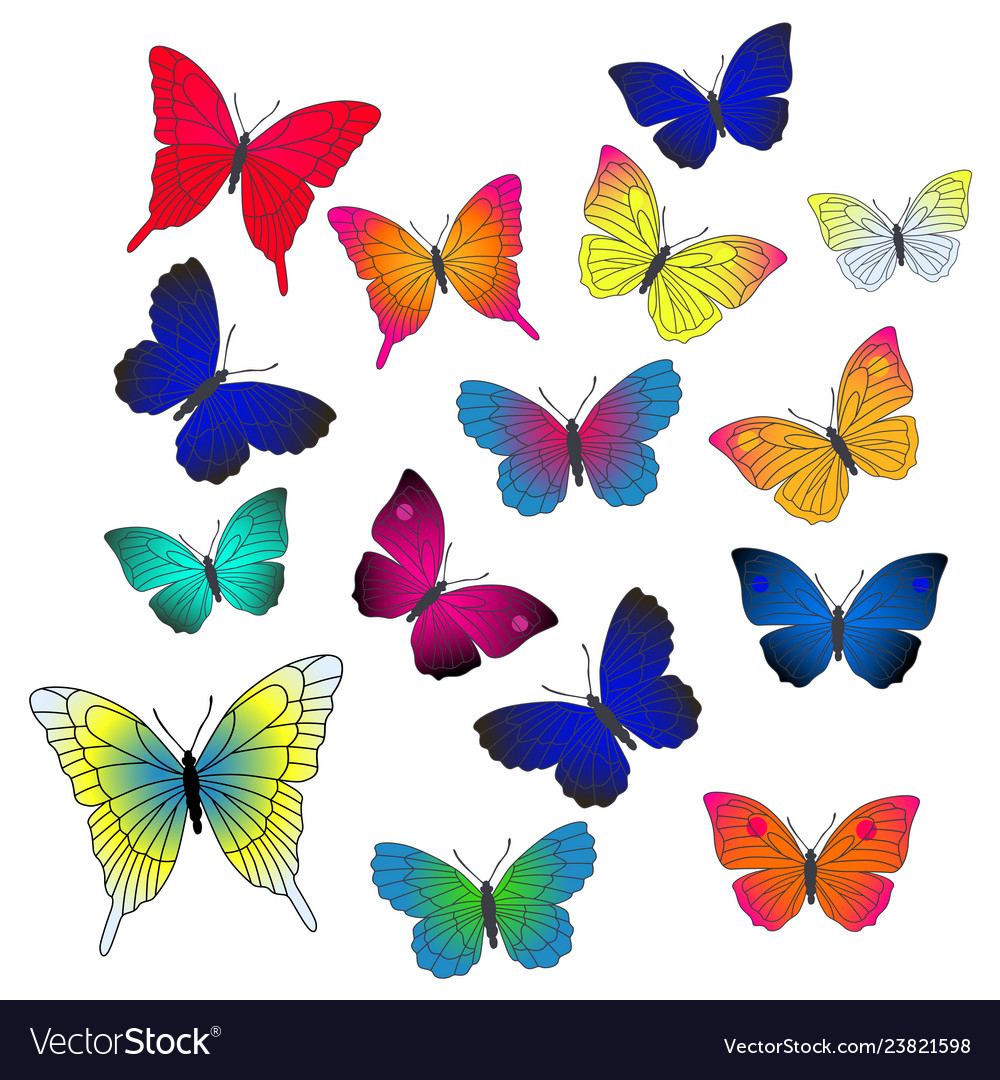 Background with flying butterflies