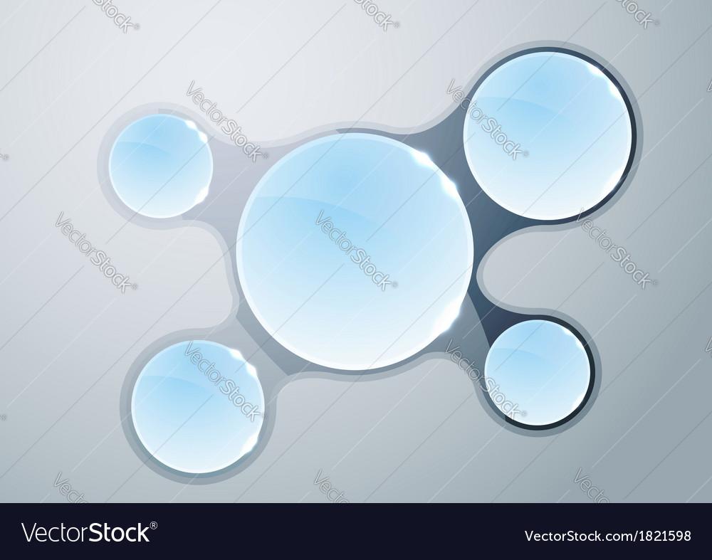 Crystal chart - infographics template